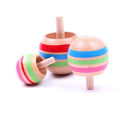 Wooden Tops, Great Fun for Kids. (Set of 3)