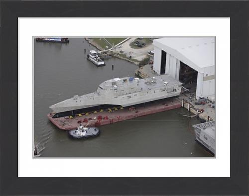 framed-print-of-the-coronado-littoral-combat-ship-is-rolled-out-at-the-assembly-bay