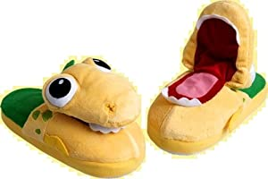 Baby Dino Dinosaur Pop-Up-Pals Slippers X-Small = Size 9/10 best X-small ages 2-3 from Pop Up Pals Slippers