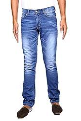John Wills Men's Slim Fit Jeans (MCR1025, Blue, 40)