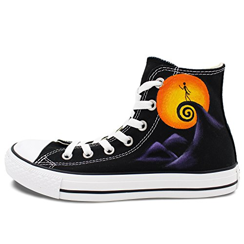 a45ce2c0e9c Converse Shoes Men Women Nightmare Before Christmas Hand Painted Skull  Canvas Shoes