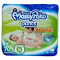 Mamy Poko Pants Diapers Extra Soft ,For boy&girl 9-18 lb(4-8 Kg)Maximum Weight 22lb,10 kg /70 Diapers:Size S,Roll up tape,(send you happiness)