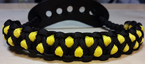 Muddy River Gear Archery Bow Wrist Sling Black and Yellow Caged