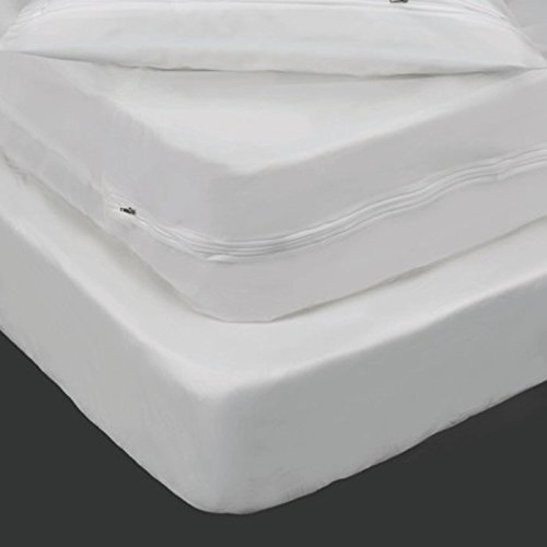 Buy Bargain 6 Gauge Vinyl Zippered Twin Size Mattress Cover, 9-inch Deep