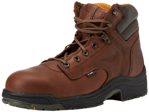 "Timberland Pro Men'S Titan 6"" Safety Toe Work Boot,Brown/Brown,7 M"