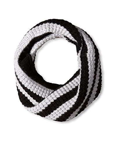 Portolano Women's Infinity Scarf, Black/Silver