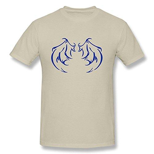 Meyee Nadigt Men's Tshirts Tribal Demon Wings Natural