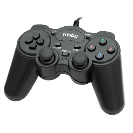 Frisby PC Computer Laptop USB 2.0 Game Controller Pad Dual- Shock
