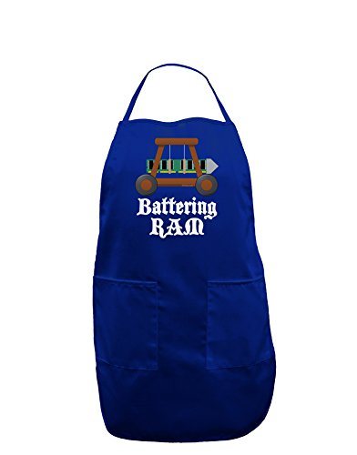 TooLoud Battering RAM Text Dark Adult Apron - Royal Blue - One-Size