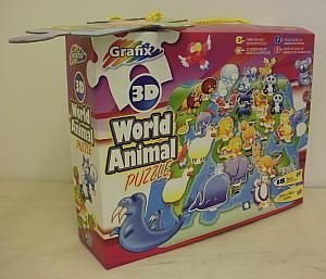 Grafix 3d World Animal Puzzle
