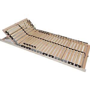Tauro 22921 Pro 7-Zonen Lattenrost Kopfteil verstellbar, Mittelgurt, 28-Leisten 140 x 200 cm FB180, 180 kg