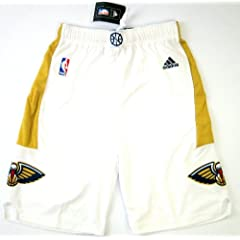 NBA Adidas New Orleans Pelicans Youth Size Shorts White by adidas