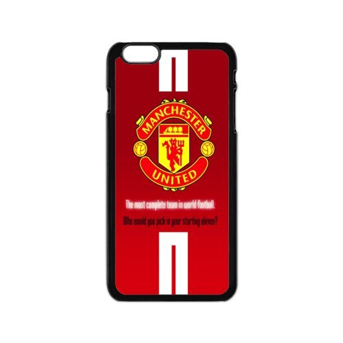 Soccer Manchester United Football Club Classic Design Print Black Case With Hard Shell Cover for Apple iPhone 6 4.7