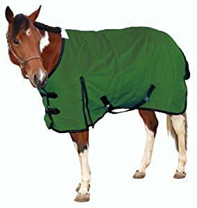 Royal Hamilton WB-1200D-HG-XS Turnout Horse Blanket Hunter Green with Black Trim, 72-Inch, Extra Small