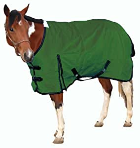 Royal Hamilton WB-600D-HG-XS Turnout Horse Blanket Hunter Green with Black Trim, 72-Inch, Extra Small