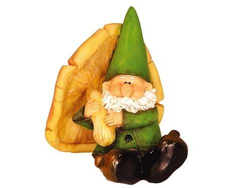 Woodland Wilf Takes Shelter Garden Gnome