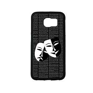 Vibhar printed case back cover for Samsung Galaxy S6 Edge DramaFaces