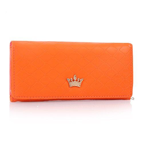 damara-womens-faux-leather-lattice-crown-bifold-purse-walletorange