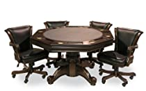 Hot Sale Executive Game Table Set (with 4 chairs) (Mahogany)