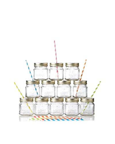 ACME Party Box Set of 12 Mason Sippers & Straws