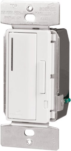 Cooper Wiring Devices Aim06-W-K 600-Watt 120-Volt Smart Dimmer Master With Preset, White