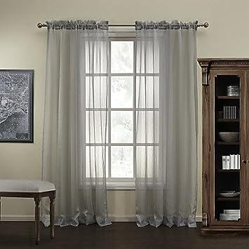 ᗕEY Gardinen modernen ٩(^‿^)۶ grauen Streifen Polyester ...
