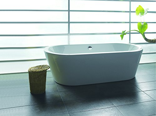 Find Cheap AKDY F224 Bathroom White Color Free Standing Acrylic Bathtub