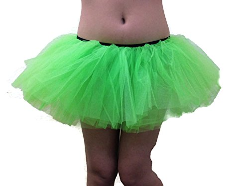 Rush Dance Women's Organza Sexy Rave Costume Tutu (Adult, Lime Green)