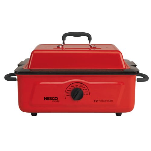 Nesco 4815-12 Roaster Oven with Porcelain Cookwell, 5-Quart, Red (Small Oven Roaster compare prices)