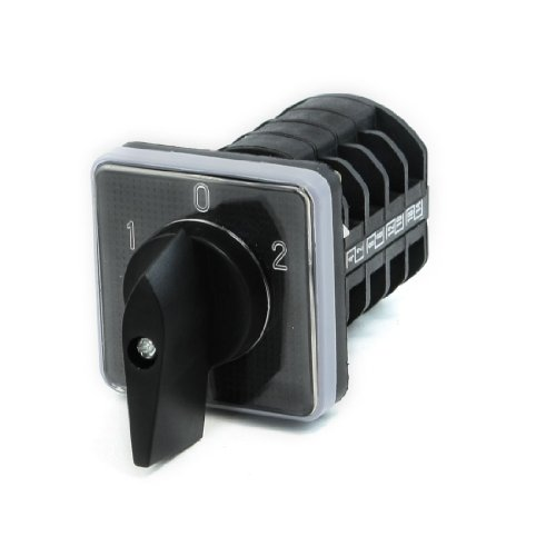 Ac 380V 10A 3 Positions Latching Rotary Universal Changeover Switch