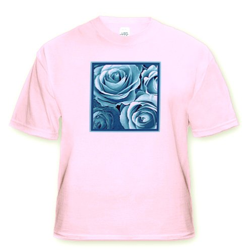Close up of dreamy turquoise blue rose bouquet - Light Pink Infant Lap-Shoulder Tee (6M)