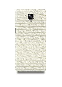 Shopmetro White Bricks Oneplus Three Case-2403
