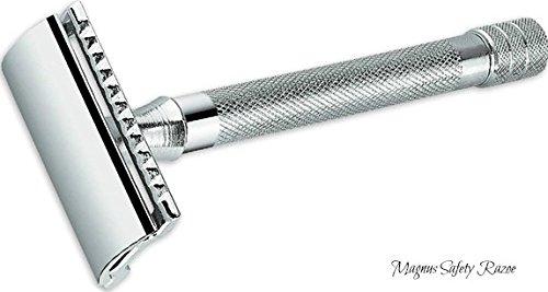 Elkaline Double Edge Razor Heavy Duty Safety Razor Long Handled - 2 Free Single Blade Razor Blades - The Best
