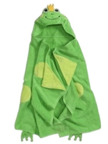 peanut-ollie-hooded-green-frog-bath-towel-child-size-100-cotton-toad