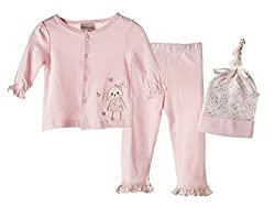 Kyle & Deena Infant Girls' 3-Piece Cardigan Set 0-3M