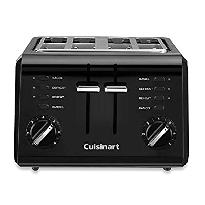 Cuisinart Black Compact Cool-Touch 4-Slice Toaster from Cuisinart