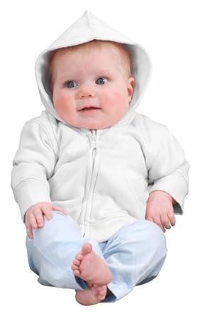 Precious Cargo Infant Full Zip Hoodie, 18 Months, White/White