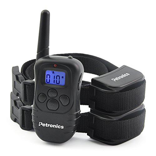 Petronics 330 Yards Rechargeable Shock Collar with Remote, Electronic Dog Training Collar for 2 Dogs (Dog Training Collars For 2 Dogs compare prices)
