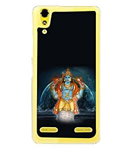 Fuson Premium Sri Vishnu Metal Printed with Hard Plastic Back Case Cover for Lenovo A6000