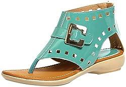 Craze Shop Girls Green Artificial Leather Sandals - 9 UK
