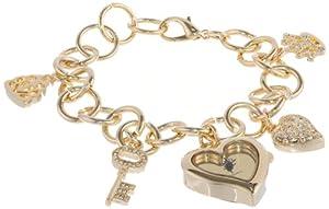 XOXO Women's XO7032 Gold Mirror Dial Gold-tone Charm Watch