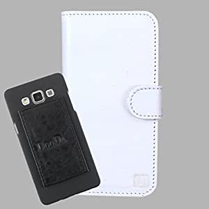 DooDa Genuine Leather Wallet Flip Case Cover With Card & ID Slots For Karbonn Titanium X - Back Cover Not Included Peel And Paste