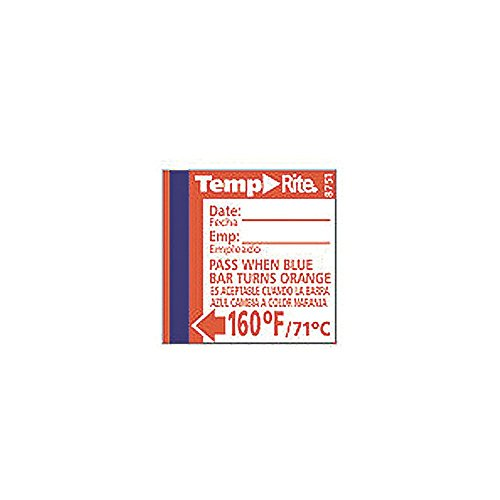 Taylor 8751 TempRite 160°F Dishwasher Test Labels - 24 / PK from Taylor Precision Products