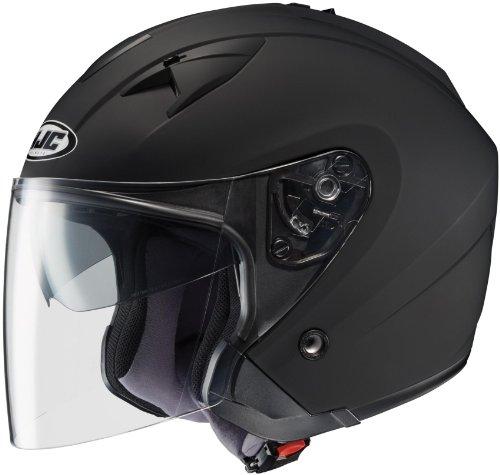 Hjc Solid Is-33 Half (1/2) Shell Motorcycle Helmet - Matte Black / Medium