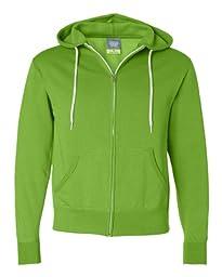 Independent Trading Co Unisex Full Zip Hooded Sweatshirt. AFX90UNZ - Medium - Lime