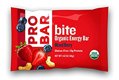 PROBAR bite Organic Snack Bar, Mixed Berry, 1.62 Ounce (Pack of 12)
