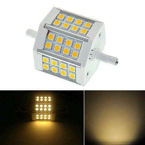 Freedancer Led Bulb Lamp Light R7S 5W 24 Leds 5050 Smd 430-440Lm 78Mm 85-265V Ac Replacement For Halogen Flood Lamp, 110V 120V 220V Floodlight Replacement Lamp (Warm White)