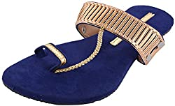 Green Apple Girls Blue Synthetic Outdoor Sandals 9 UK