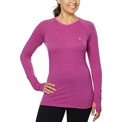 Champion® Ladies Active Yoga Tee, Fuchsia, Small (Champion Long Sleeve Women compare prices)
