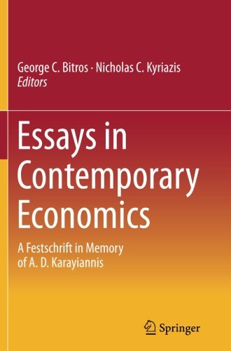 Essays in Contemporary Economics: A Festschrift in Memory of A. D. Karayiannis